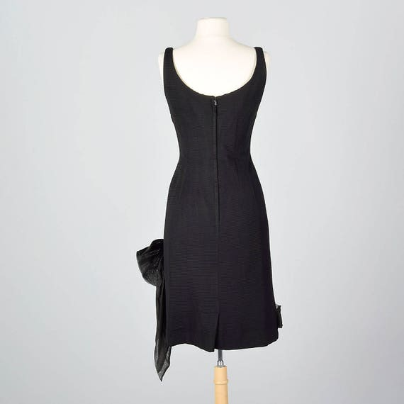 Black Dress Dress Small Cocktail Wear Sexy 1950s Asymmetric Party Party Hourglass Bow 50s Waist Vintage Evening Fitted Outfit Holiday RwXq5