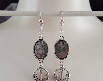 Earring Frames for 13 x 18 mm Cabochons, earring, setting