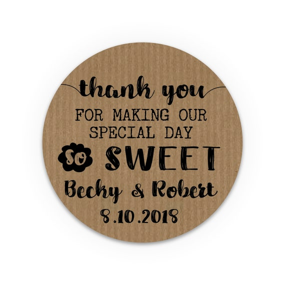 Rustic wedding favors for guests, Customized wedding stickers, Custom wedding favor labels, Unique wedding favors, Jam wedding favors