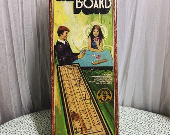 1967 Pleasantime Solid Hardwood Two Lane Continuous Track Cribbage Board