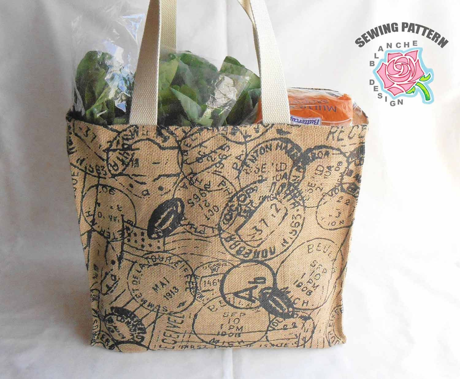 Reusable grocery bag sewing pattern reusable shopping bag pattern this is a digital file jeuxipadfo Gallery