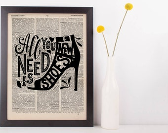 All you Need Is New Shoes Dictionary Print