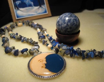 Sale Enchanted Moon  Lapis Necklace
