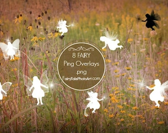 8 CHILD FAIRY ping OVERLAYS Digital Photo Background Stock Photo for Fairy Photography .png files