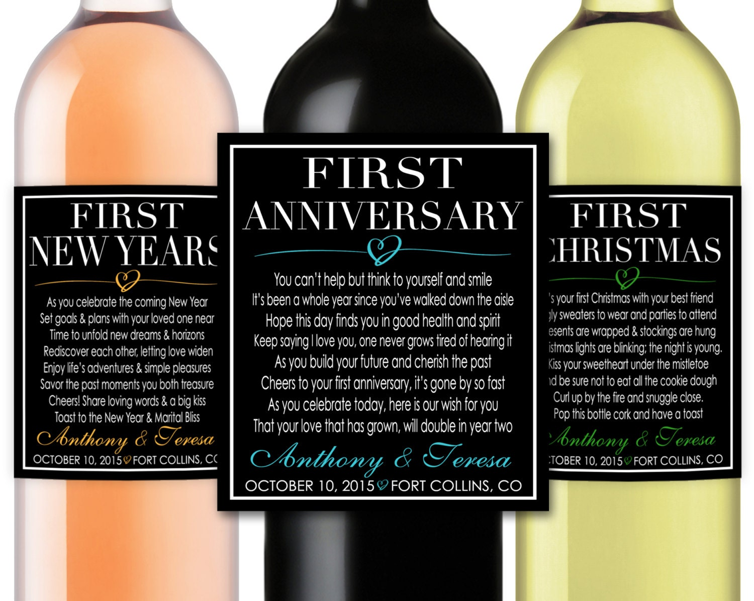 Wedding Gift Poems: Marriage Firsts Milestones Poems Wedding Gift Wine Champagne