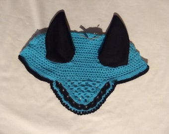 Fly Bonnet Black-Turquoise