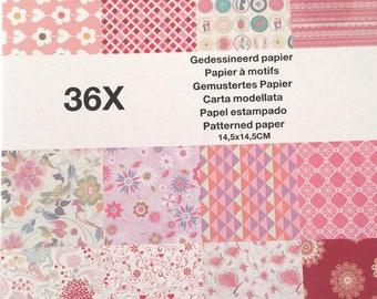 Block 36 leaves 14, 5 x 14, 5 cm scrapbooking