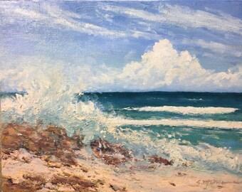 Seascape original oil on canvas