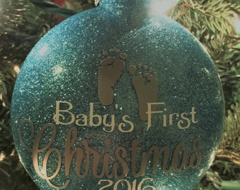 Baby's First Christmas Ornament / Personalized Baby Ornament / Personalized Ornament / Christmas Ornament