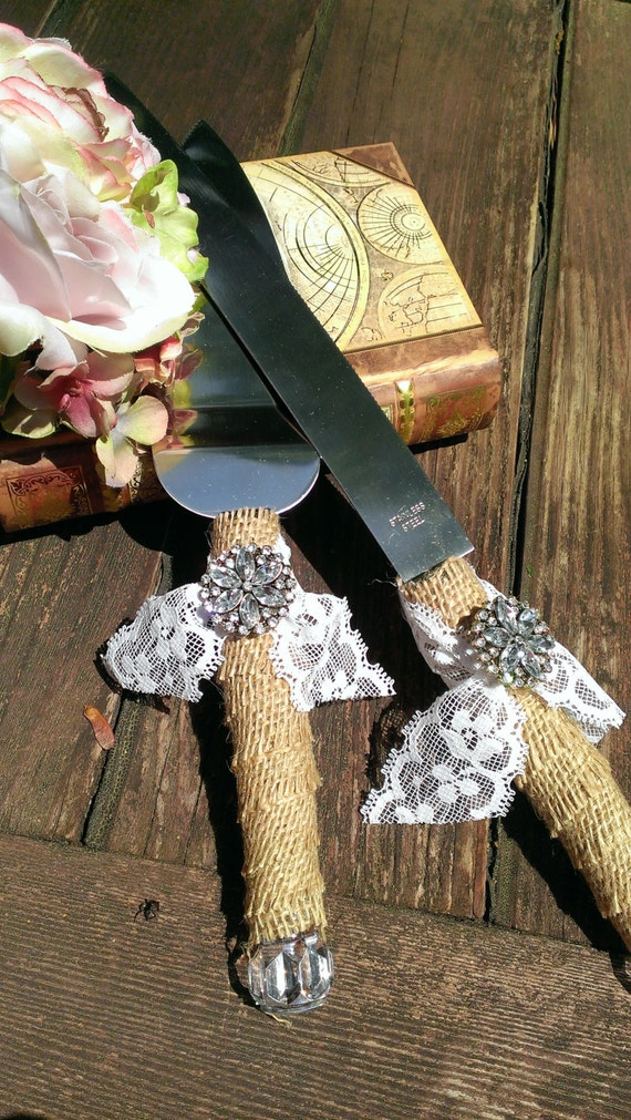 rustic wedding cake knives rustic wedding cake knife burlap and lace wedding cake cutting 19544