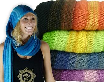 Yoga Winter Hat - Head Scarf - Scarf becomes a Hat - Alpaca Winter Hat- Scarf Hat SH1.4