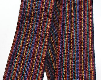 "Woven Ribbon - 3 1/2"" x 1 yard Multi Color Striped Ribbon"