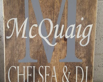Rustic personalized sign