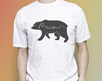 Bear T-shirt, Bear men T-shirt, Bear women T-shirt, Bear people, Bear man, Bear woman, Bear birthday, Men clothes, Women clothes