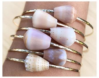 Adult Sized Shell Bangle - Shell Bangles - Shell Bracelets - Hawaiian Shell Bangles - Beach Bangles