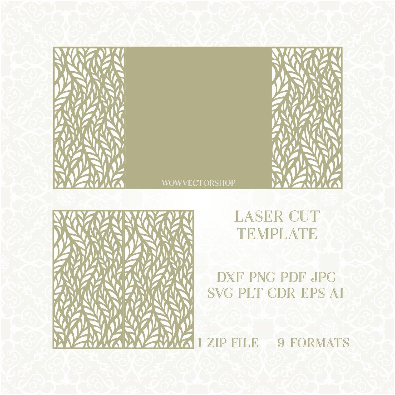 Wedding Invitation Lace Card Template Quinceanera Invitation