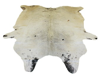 Glacier Wear Longhorn Cow Hide Leather Hair-On Rug #080