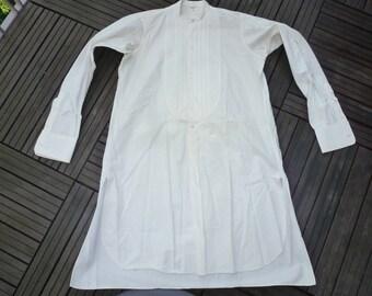 1920 cuff and detachable Collar Tuxedo shirt