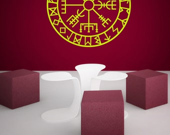Vegvisir - Wall Decal - Wall Sticker - Norse Protection Symbol Vegvisir!