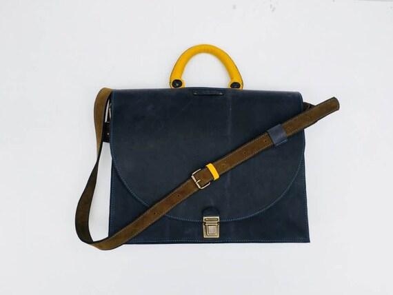 15 inch laptop bag, CEO Rusty Briefcase, Leather Briefcase, Genuine Leather Messenger Bag, Office Bag, Man  Laptop Bag