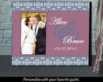 Personalized Picture Frame, Wedding Gift, Picture Frame, Personalized Frame,Photo Frame, Wedding Shower