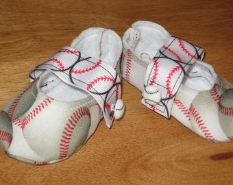 newborn unisex fabric sports baby shoes - baseball