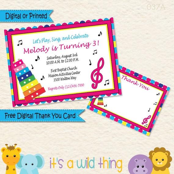Music Theme Invitations Music Birthday Party Invitation