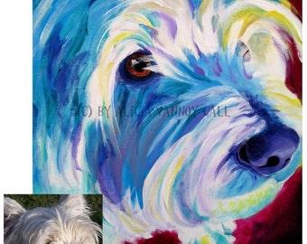 Custom Pet Portrait, 11x14, DawgArt, Dog Art, Pet Portrait, Custom Dog Painting, Custom Cat Painting, Colorful Art, Pet Portrait Artist