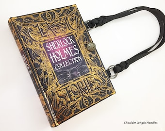 Sherlock Holmes Book Purse - Sherlock Book Cover Handbag - Dr Watson Book Clutch - Victorian Crime Book Purse - Mystery Reader Gift