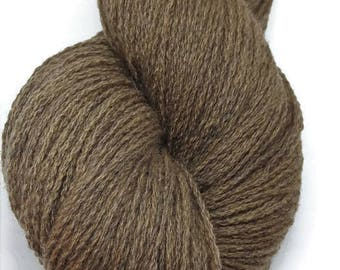 Plant Dyed Lambswool - Golden Brown Organic Dyed Wool - Natural Dyed Lambswool - Natural Dyed Wool With Walnut - EU-SELLER Wool