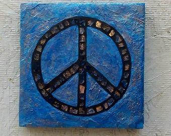 "Blue Peace 6×6×1/2"""