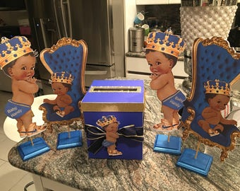 royal baby boy centerpiece  package 5 pieces