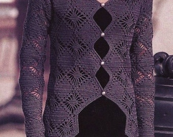 Women gray vest / crochet / order