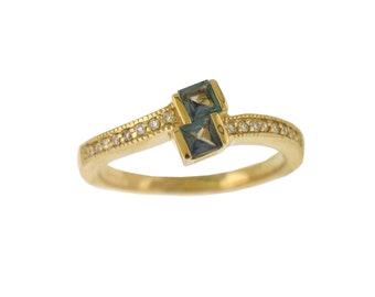 Alexandrite Diamond Ring -Natural Alexandrite- in 14K Yellow Gold with Certificate!! ..  Free  shipping in the United States ONLY