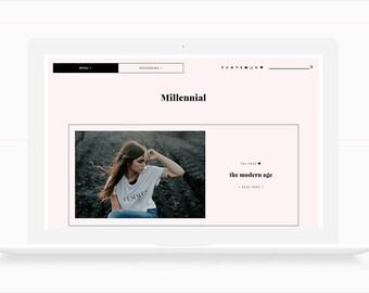 Millennial • Responsive Blogger Template, Blogger Template, Responsive Blogger Theme, Blogger Theme,  Minimalist Blogger Template