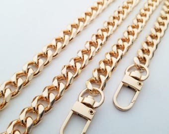 wholesale gold chain purse strap bag handbag strap handles gold handbag findings Replacement Chain Strap finished chain width 10 mm 1pcs
