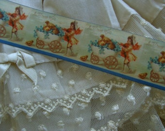 Stunning Old Novelty Antique Victorian Easter Ribbon