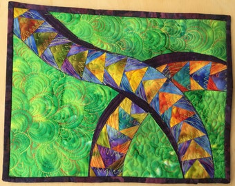 Small art quilt, Flying Geese