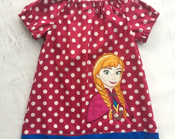 Anna Frozen Peasant Dress Birthday