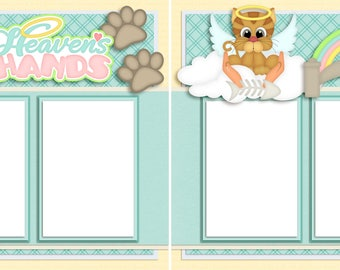 In Heaven's Hands Cat - Digital Scrapbook Quick Pages - INSTANT DOWNLOAD