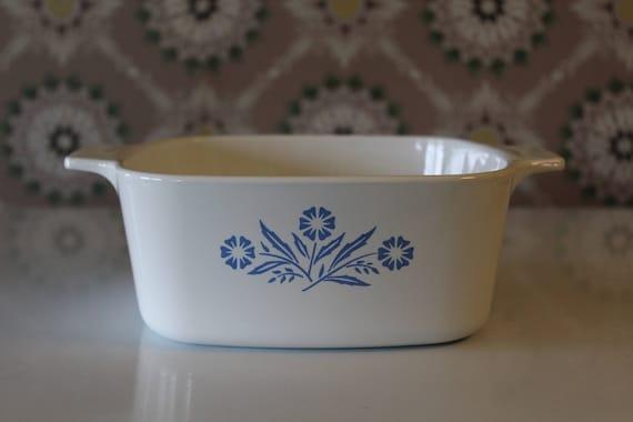 Vintage Corning Ware Cornflower Blue Baking Dish 1 1/2 QT