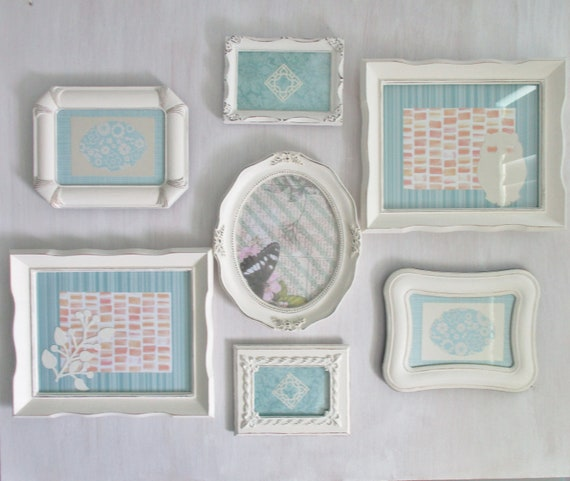 Cream Picture Frame Set, Rustic Farmhouse Frames, Nursery Frames ...