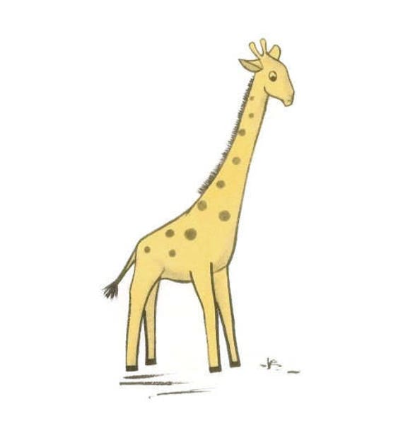 Vintage Stofftier Giraffe Schnittmuster 50er Jahre Spielzeug