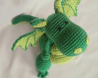 Handmade toys,amigurumi crochet dragon,dragon softies