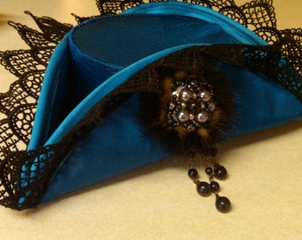 Custom Mini French Marie Antoinette Tricorn Hat