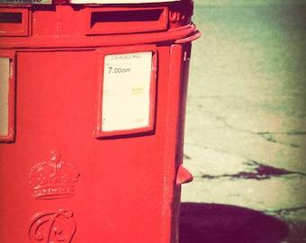 London decor, fine art photograph, London photography, Britain, retro, England picture - Post Box