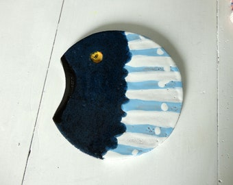 trivet - fish ceramics-home decor marine of table art mosaic