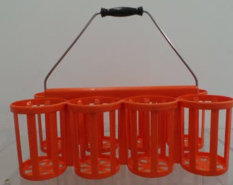 Vintage 60s plastic bottle holders