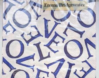 Emma Bridgewater Indigo Blue Purple Love Lunch Napkins Pack of 20