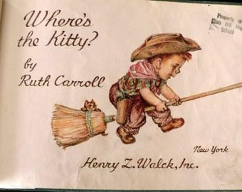 vintage childrens book... WHERES The KITTY hardcover Book ...